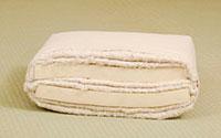 Futón de algodón de dos capas de látex