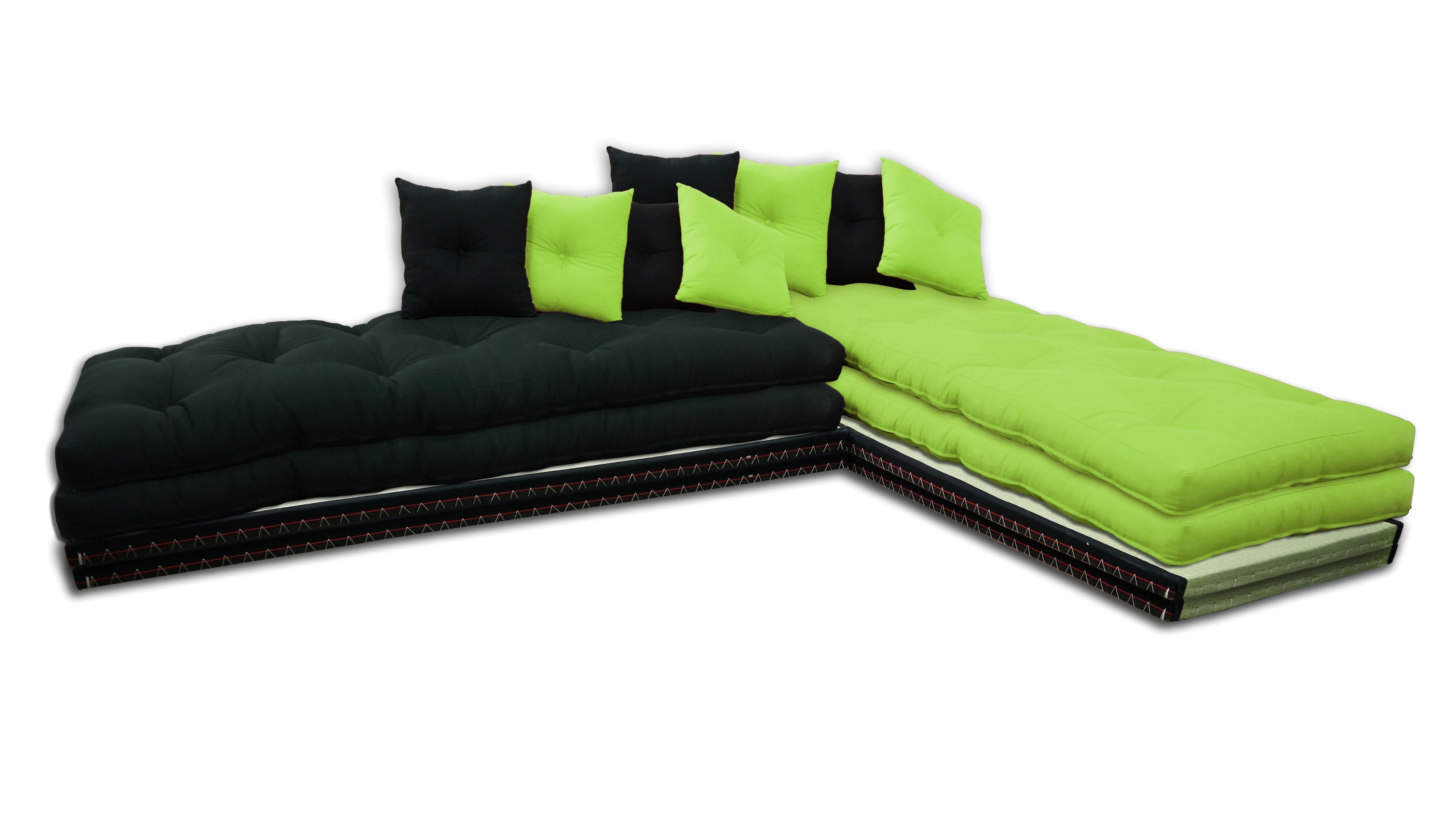 Chaise Lounge Tatami con Futones de color